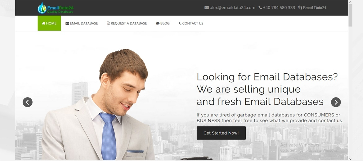 Launching EmailData24.com - First website which sell QUALITY email leads databases